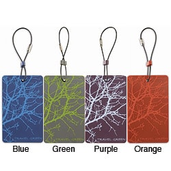 Lewis N. Clark Travel Green 'Branches' Luggage Tags (Set of 2)