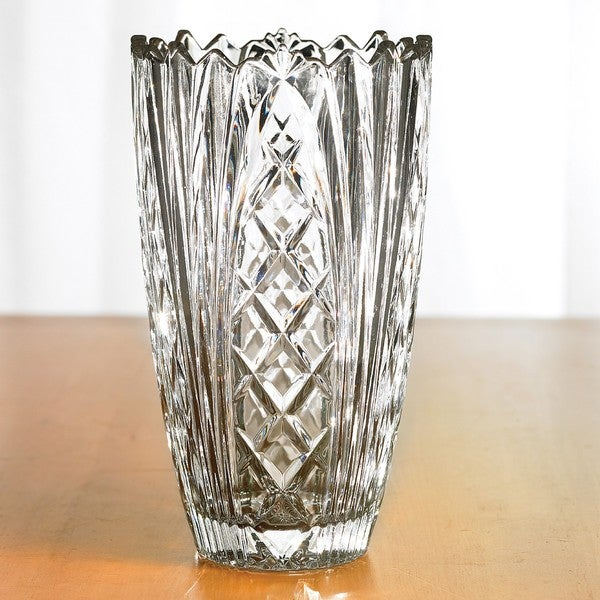 Fifth Avenue Crystal Wellington 12-inch Glass Vase