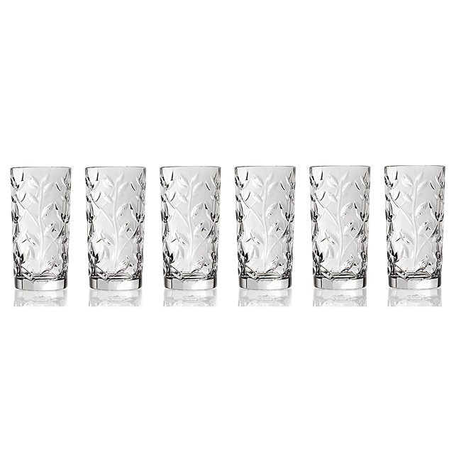Laurus Collection Crystal Highball Glasses (Set of 6)