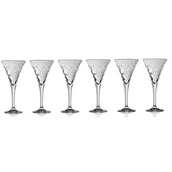 Laurus Collection Crystal Wine Glasses (Set of 6)