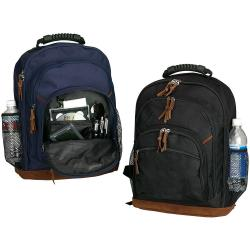 World Traveler Street-style Leather Bottom Backpack