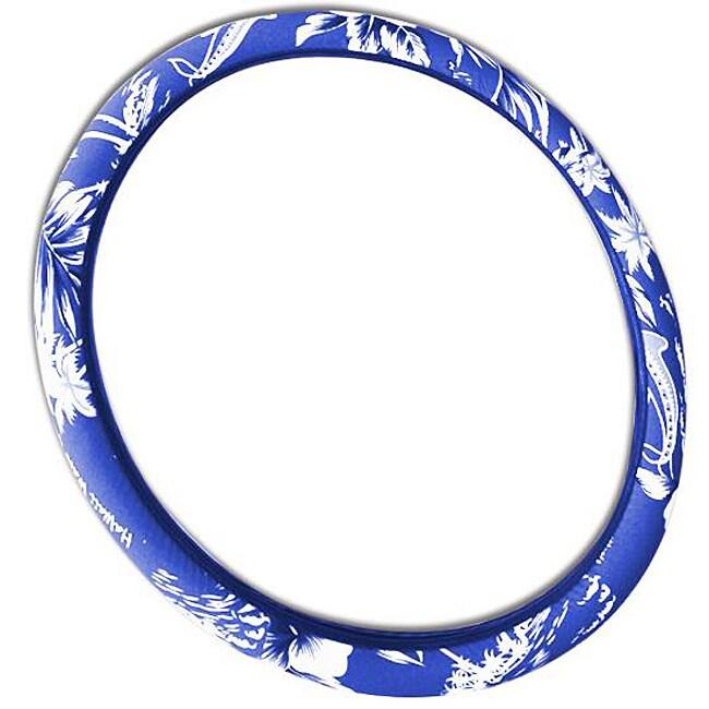 Hawaiian Blue 15-inch Universal Steering Wheel Cover
