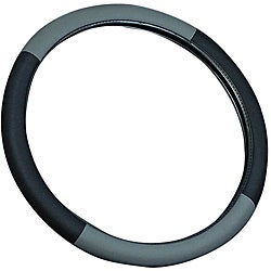 Grey 15-inch Universal Steering Wheel Cover