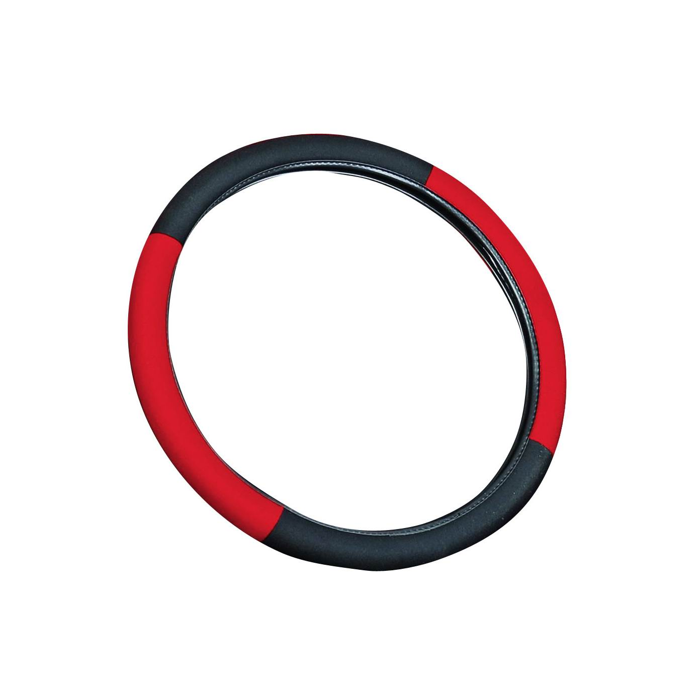 Red 15-inch Universal Steering Wheel Cover