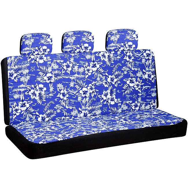 7 Piece Hawaiian Blue Bench and Seat Cover Set