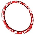 Hawaiian Red Universal 15-inch Steering Wheel Cover