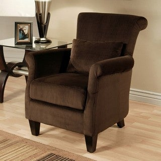 Abbyson Living Milano Dark Brown Microsuede Armchair