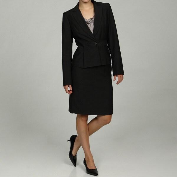 Calvin Klein Petite Charcoal 2-piece Skirt Suit FINAL SALE