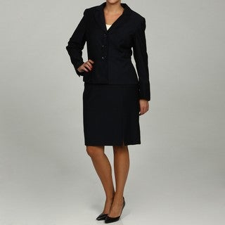 Calvin Klein Women's Navy 2-piece Skirt Suit