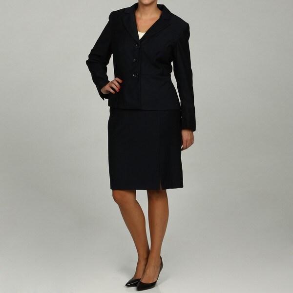 Calvin Klein Women's Navy 2-piece Skirt Suit