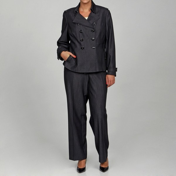 Calvin Klein Women's Black 2-piece Pant Suit
