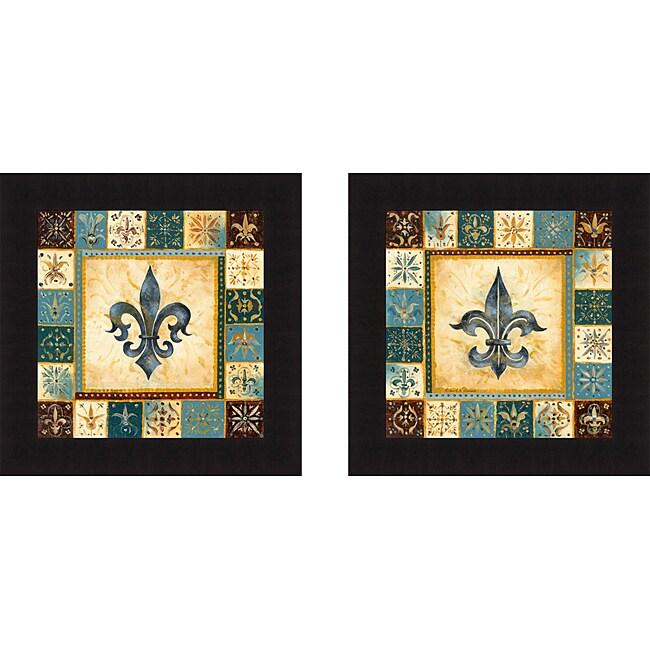 Richard Henson 39 Bleu Fleur De Lis I I 39 Framed Print Art