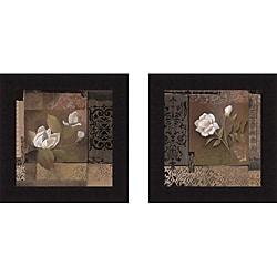 Pamela Luer 'Magnolia Tapestry & Rose Tapestry' Framed Print Art