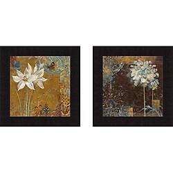 Richard Henson 'Krishna's Garden III & IV' Framed Print Art