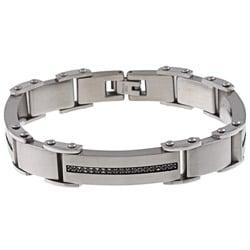 Stainless Steel Men's 1/2ct TDW Black Diamond Bracelet