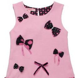 Beetlejuice London Girl's 'Pretty In Pink' Polka Dot/Bow Dress