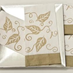 Hand-painted Leaf Guest Towels (Set of 4)