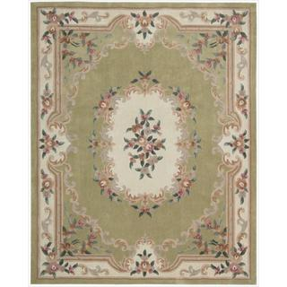 Nourison Hand-tufted Green Overland Street Rug (7'3 x 9'3)