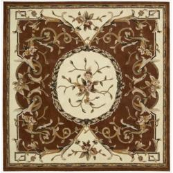Nourison Hand-tufted Persimmon Overland Street Rug (7' Square)
