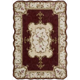 Nourison Hand-tufted Burgundy Overland Street Rug (5' x 7'6)