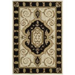 Nourison Hand-tufted Ivory Overland Street Rug (5' x 7'6)