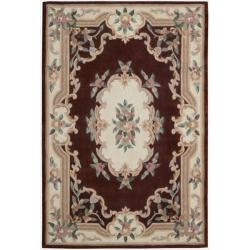 Nourison Hand-Tufted Burgundy Overland Street Area Rug (5' x 7'6)