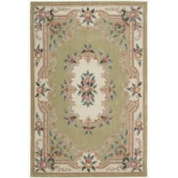 Nourison Hand-tufted Green Overland Street Rug (5' x 7'6)