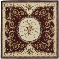 Nourison Hand-tufted Burgundy Overland Street Rug (7' Square)