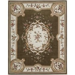 Nourison Hand-tufted Brown Overland Street Rug (7'3 x 9'3)