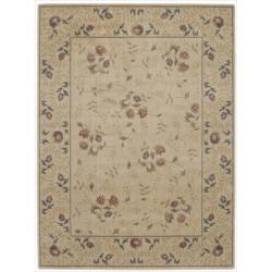 Nourison Summerfield Floral Ivory Rug (5'6 x 7'5)