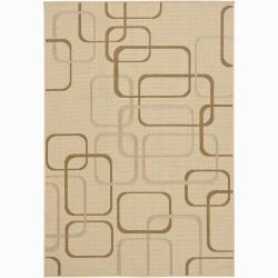 Mandara Contemporary Beige Geometric Rug (8' x 11')