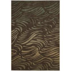 "Nourison Summerfield Brown Polyacrylic Rug (7'9"" x 10'10"")"