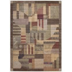 Nourison Summerfield Multicolor Geometric Rug (7'9 x 10'10)