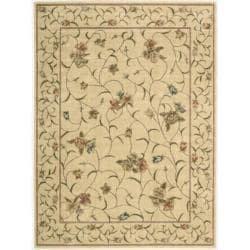 "Nourison Summerfield Ivory Floral Rug (7'9"" x 10'10"")"