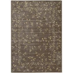 "Nourison Summerfield Khaki Floral Rug (7'9"" x 10'10"")"