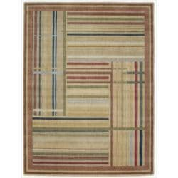 "Nourison Summerfield Striped Multicolor Rug (5'6"" x 7'5"")"
