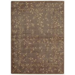 "Nourison Summerfield Khaki Floral Rug (5'6"" x 7'5"")"