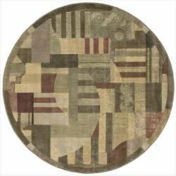 Nourison Summerfield Modern Multicolor Rug (5'6 Round)