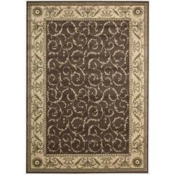 Nourison Summerfield Brown Rug (5'6 x 7'5)