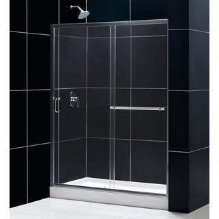 DreamLine Tub To Shower Kit Infinity Plus Shower Door and Amazon Base