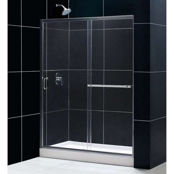 DreamLine Tub To Shower Kit Infinity Plus Shower Door and Amazon Base