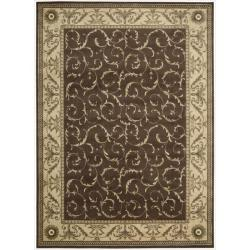 "Nourison Summerfield Brown Floral Rug (7'9"" x 10'10"")"