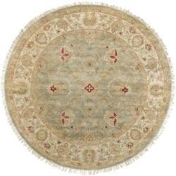 Hand-knotted Squire Wool Rug (8' Round)