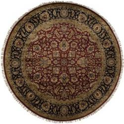 Hand Knotted Elon Wool Rug (8' Round)