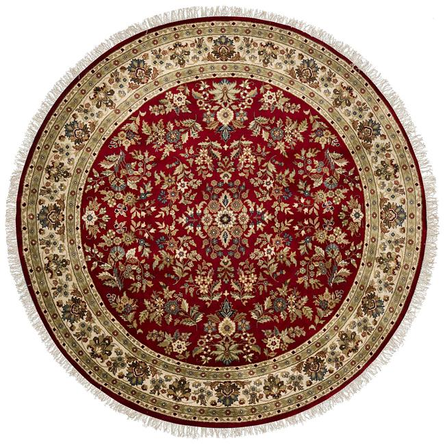 Hand-knotted Cloverdale Wool Rug (8' Round)
