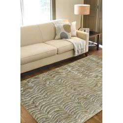 Julie Cohn Hand-knotted Clermont Abstract Design Wool Rug (4' x 6')
