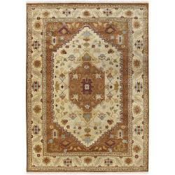 Hand-knotted Auburn Wool Rug (9' x 13')