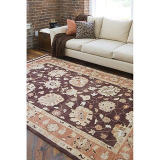 Hand-knotted Bokhara Wool Rug (9' x 13')