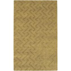 Hand-knotted Antalia Basketweave Pattern Wool Rug (9' x 13')