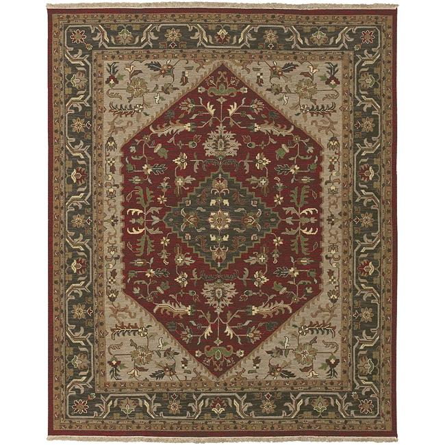 Hand-knotted Milan Wool Rug (10' x 14')